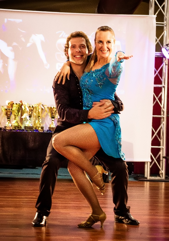 Finn and Donna from LatinFire at the NZ Salsa dance nationals competition