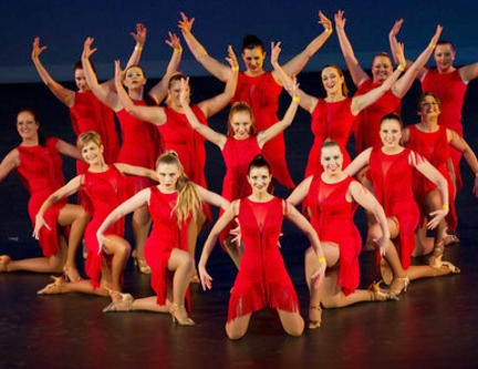 South Island Salsa Competition 2015 - Ladies Shine Red Dance Group