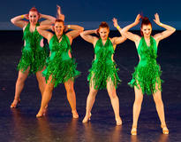 South Island Salsa Competition 2015 - Ladies Shine Green Dance group Hair section