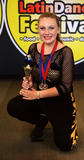 Holly's trophy at the World Salsa Solo competition